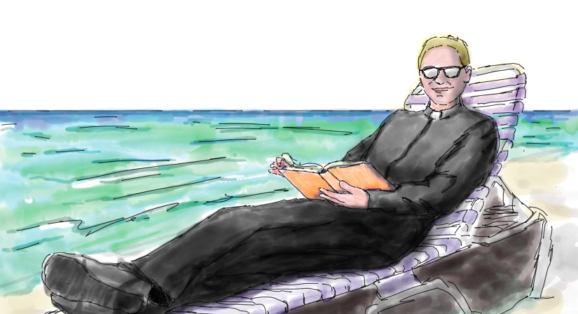 Father Matt on the beach