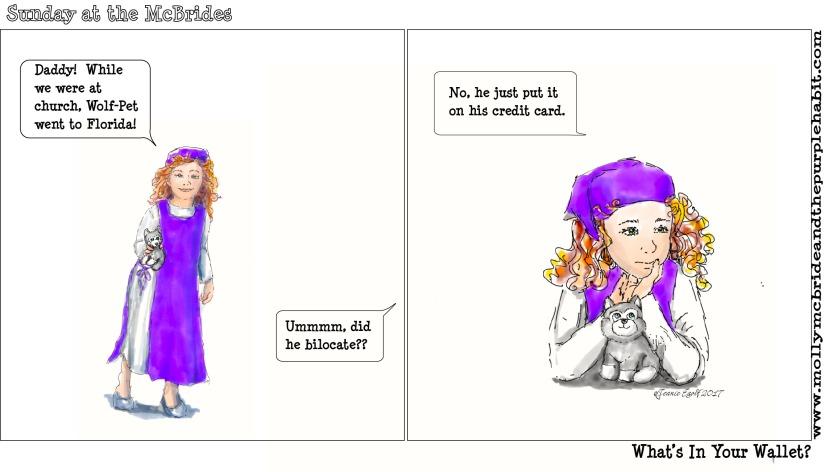 Bilocating Francis Comic