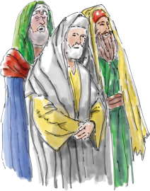 Illustration of the pharisees, from Molly McBride and the Party Invitation