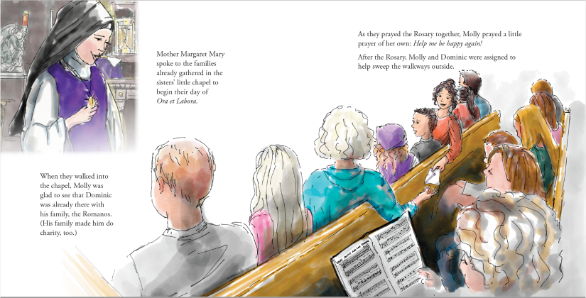 Chapel scene from Book # of the Molly McBride series